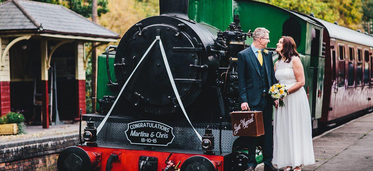 047 - Churnet Valley Railway Wedding - Marti and Chris