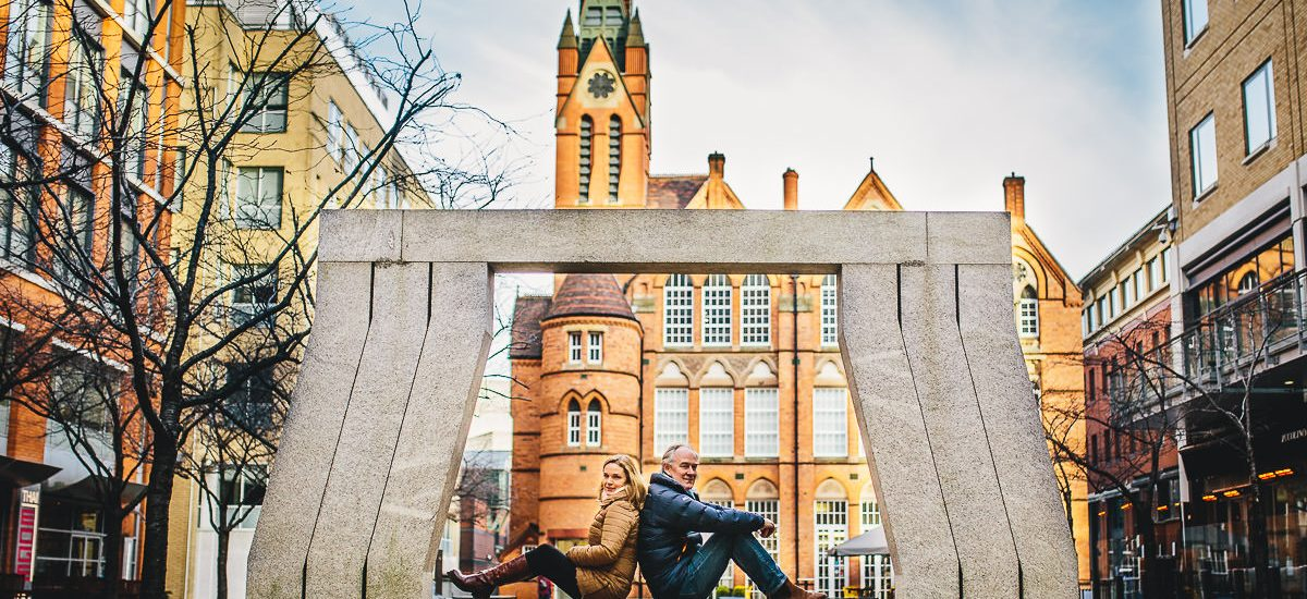 006 - Brindley Place Photoshoot - Caroline and Mike