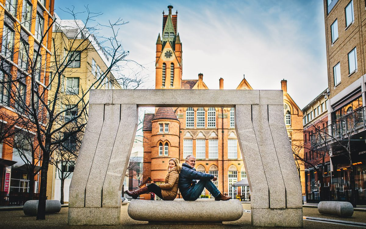 Brindley Place Photoshoot - Caroline and Mike