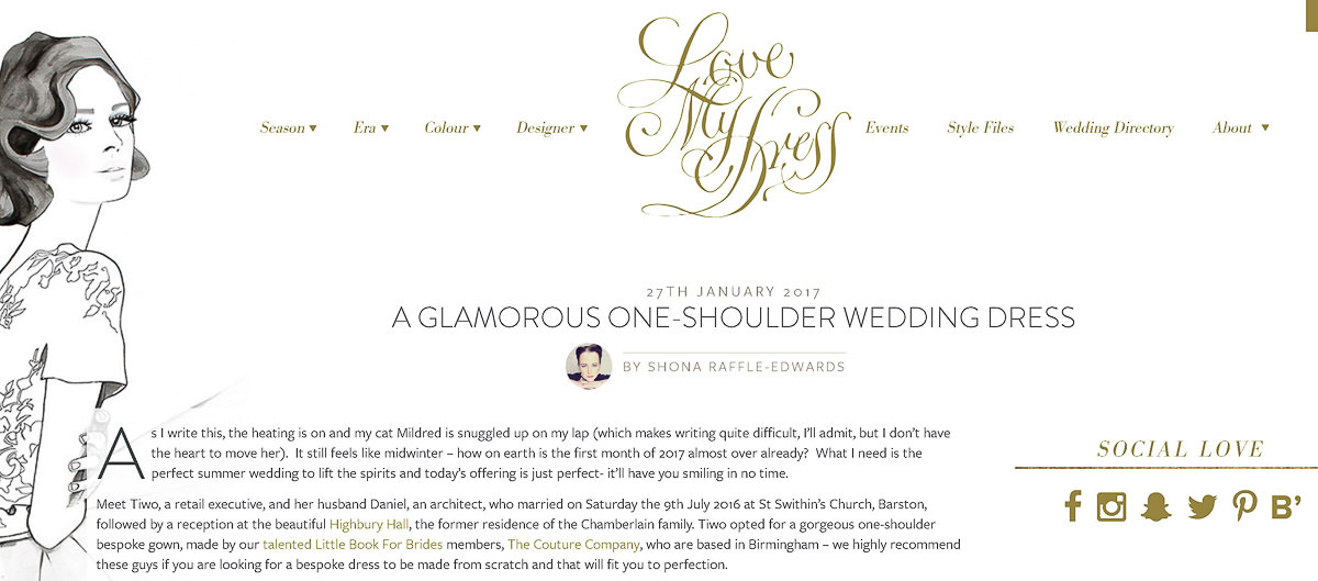 Love My Dress Website