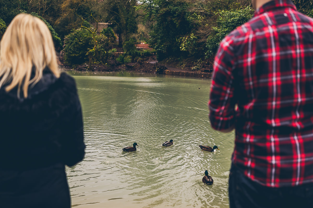 Feeding the ducks in Cockington