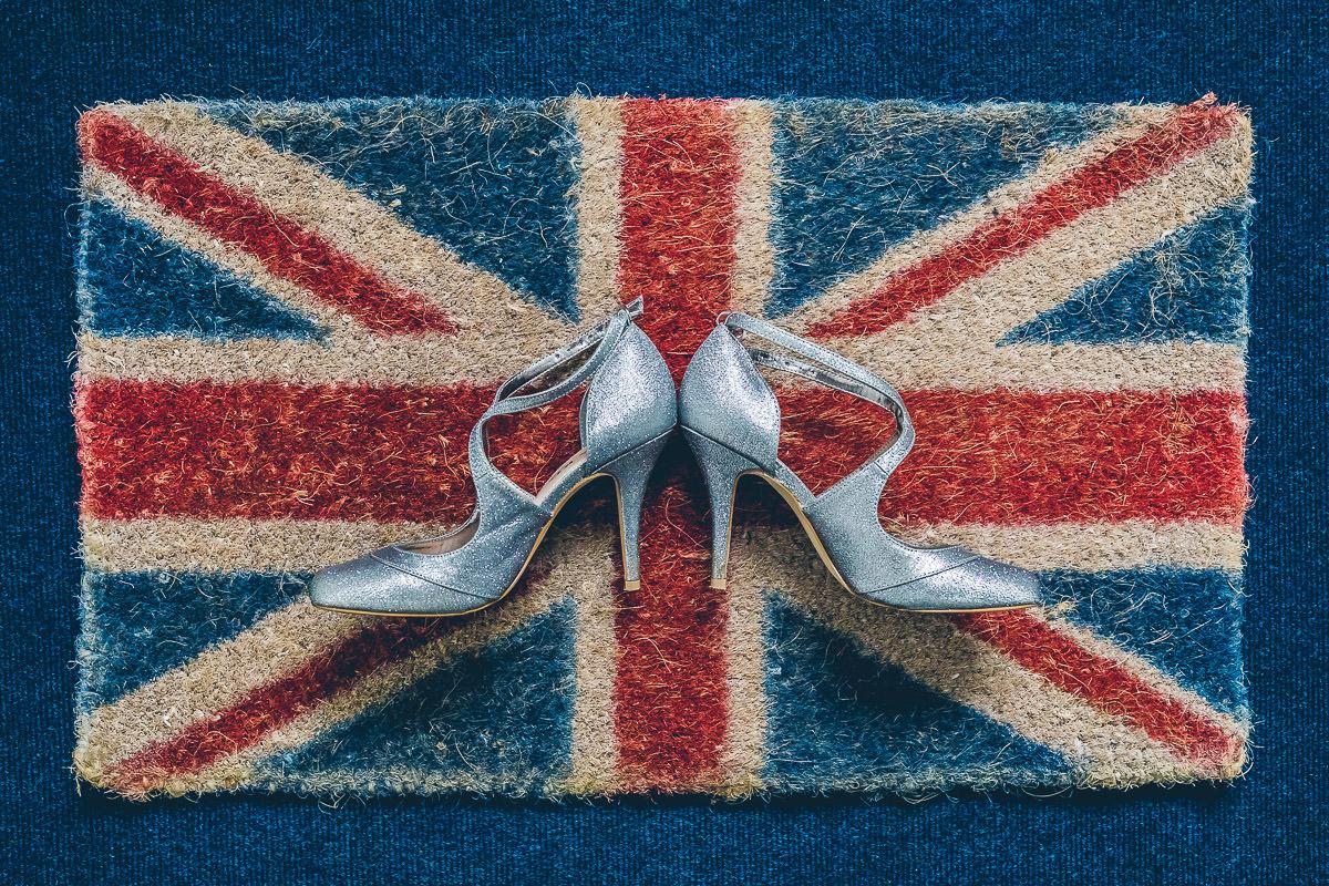 Creative wedding shoe photo
