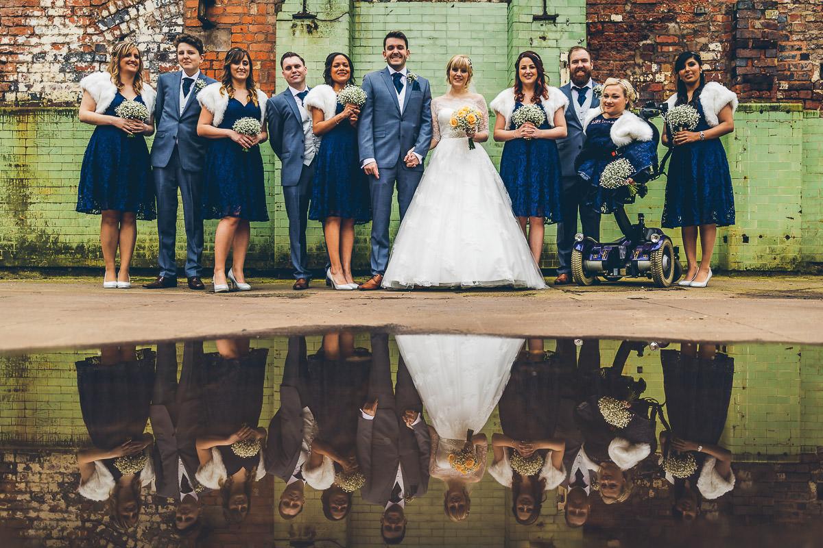 Group photo at Digbeth wedding