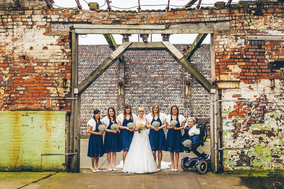 Bridesmaids portrait at The Bond Co