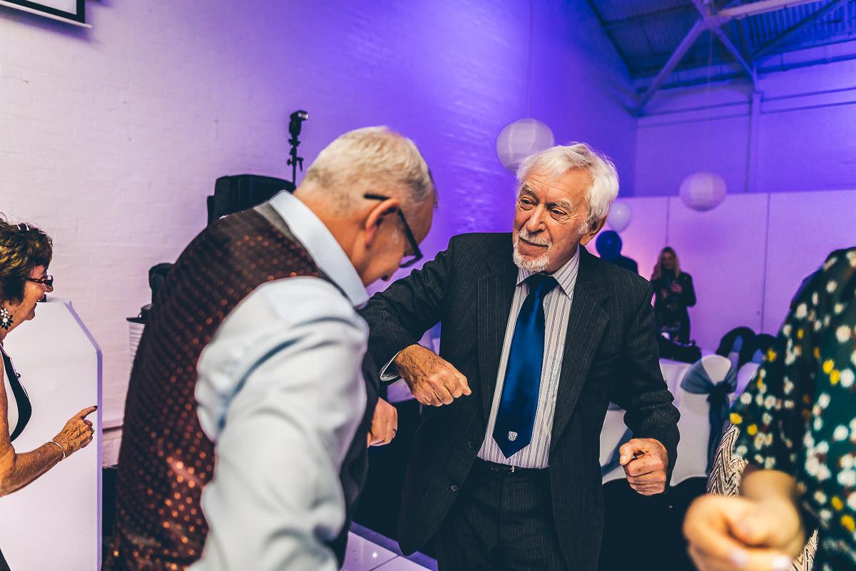 Grandad dancing at a wedding