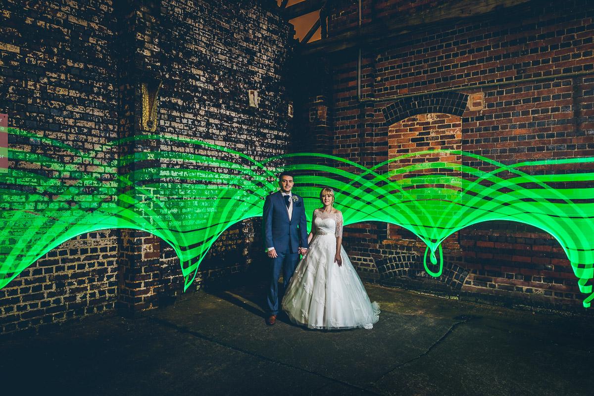 Epic bridal portrait with a Pixelstick
