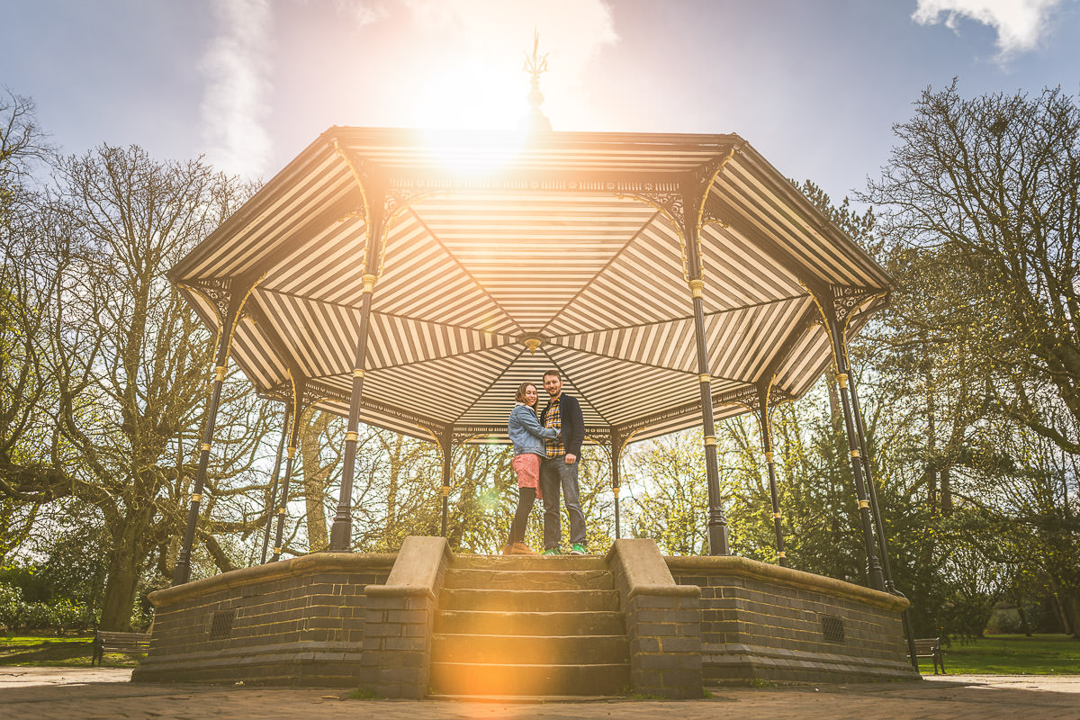 Cannon Hill Park bandstand photoshoot
