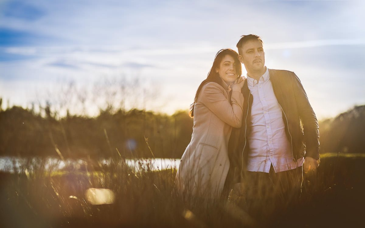 Sunset Pre-wedding photoshoot at Powell's Pool Sutton Park